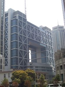The Shanghai stock exchange.