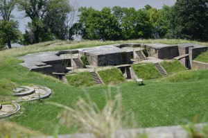 This much later gun emplacement at Fort Washington sits atop the 1814 structure.