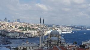 The Istanbul skyline.