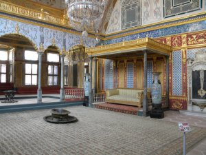 The throne room in Topkapi Palace, Istanbul.
