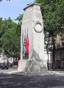 The Cenotaph in London.